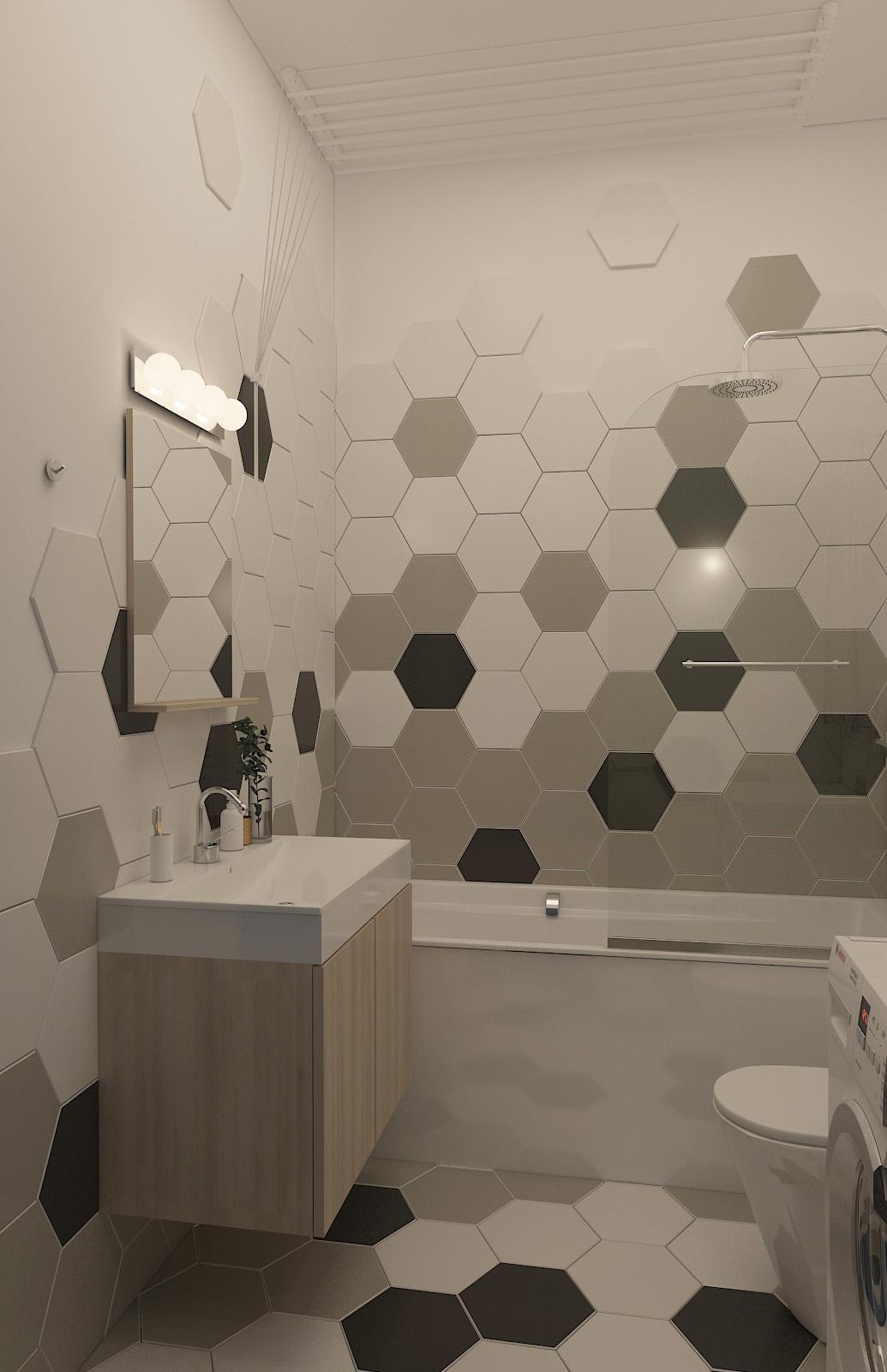 Дизайн ванної | проект ЖК «Єнісейська садиба»