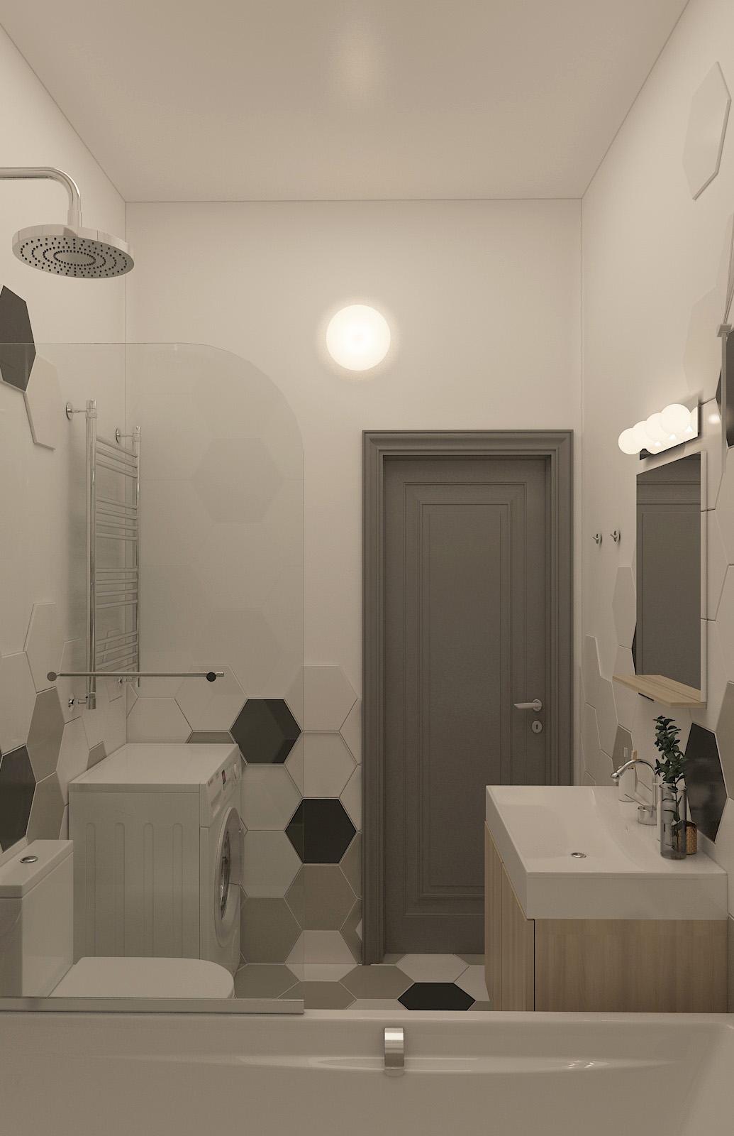 Інтер'єр ванної кімнати | дизайн-проект ЖК «Єнісейська садиба»