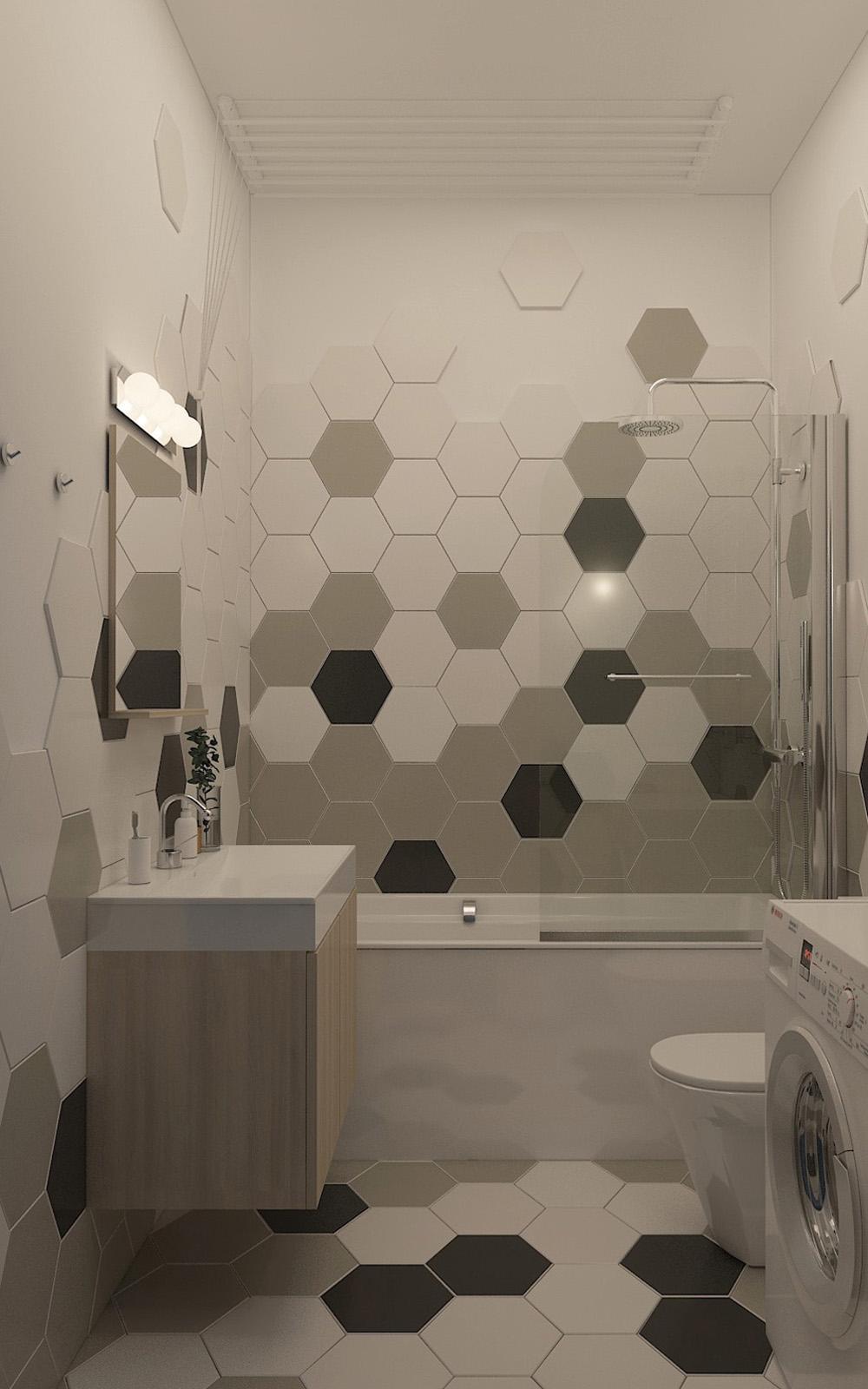 Вид ванної кімнати | дизайн-проект ЖК «Єнісейська садиба»