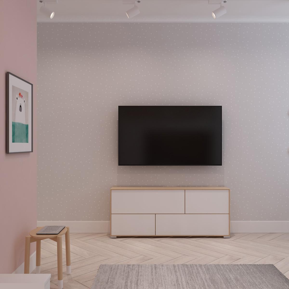 Телевізор у дитячій кімнаті | проект Оболонський проспект