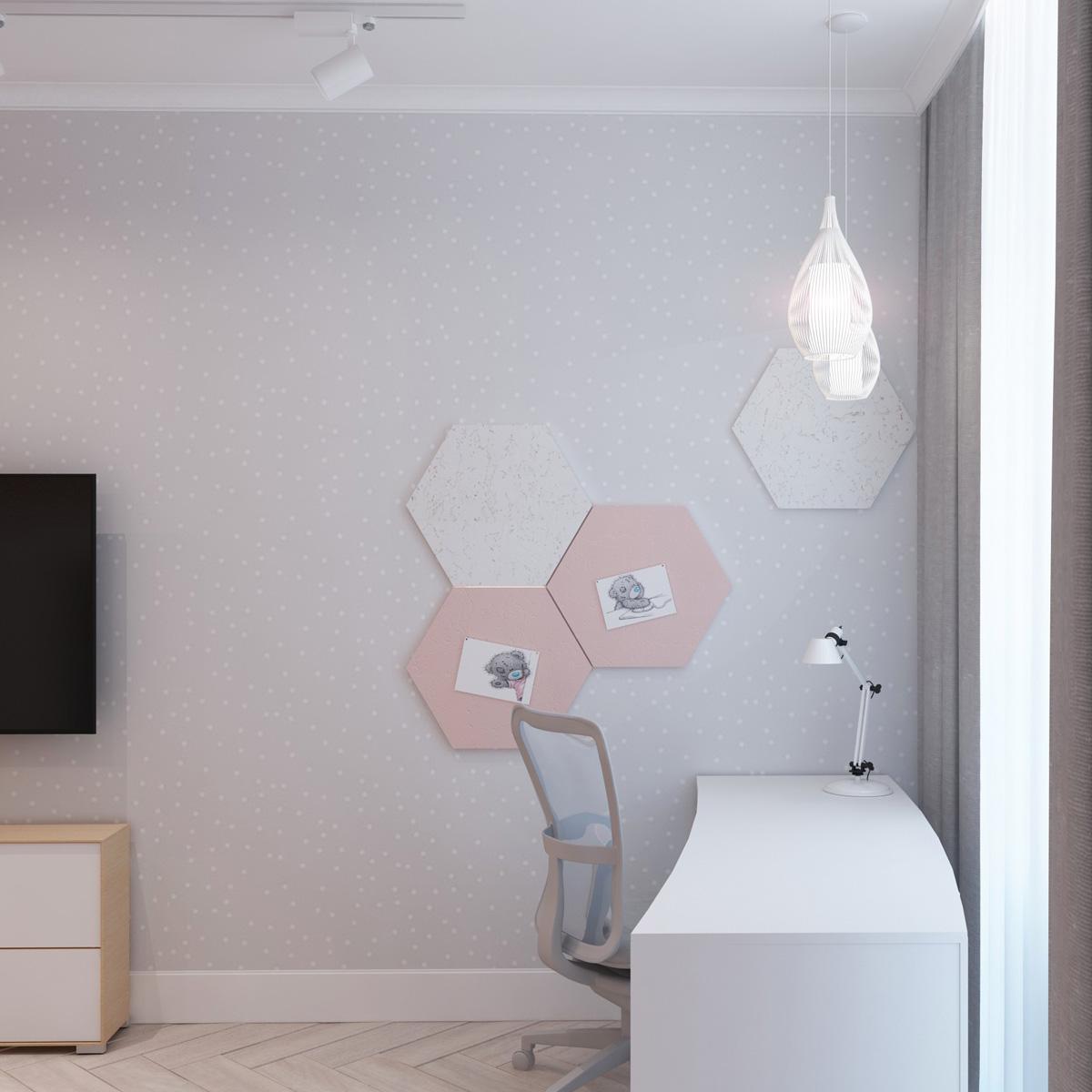 Дизайн робочої зони у дитячій кімнаті| проект Оболонський проспект