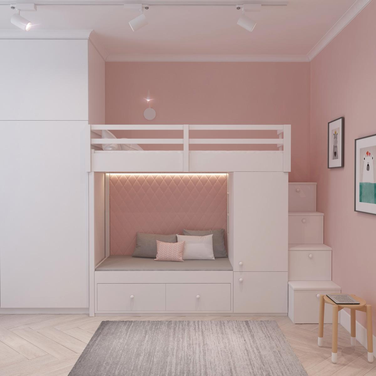 Дизайн дитячої спальні | проект Оболонський проспект