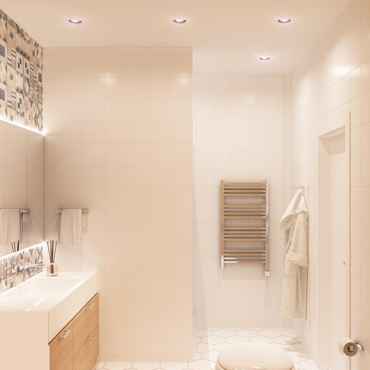 Вид ванної кімнати | дизайн-проект Оболонський проспект