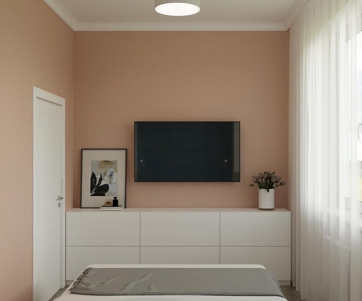 Інтер'єр спальні | дизайн-проект Оболонський проспект