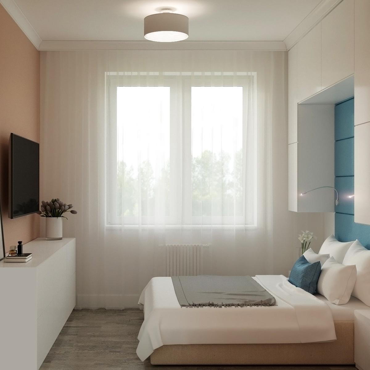 Вид спальні | дизайн-проект Оболонський проспект