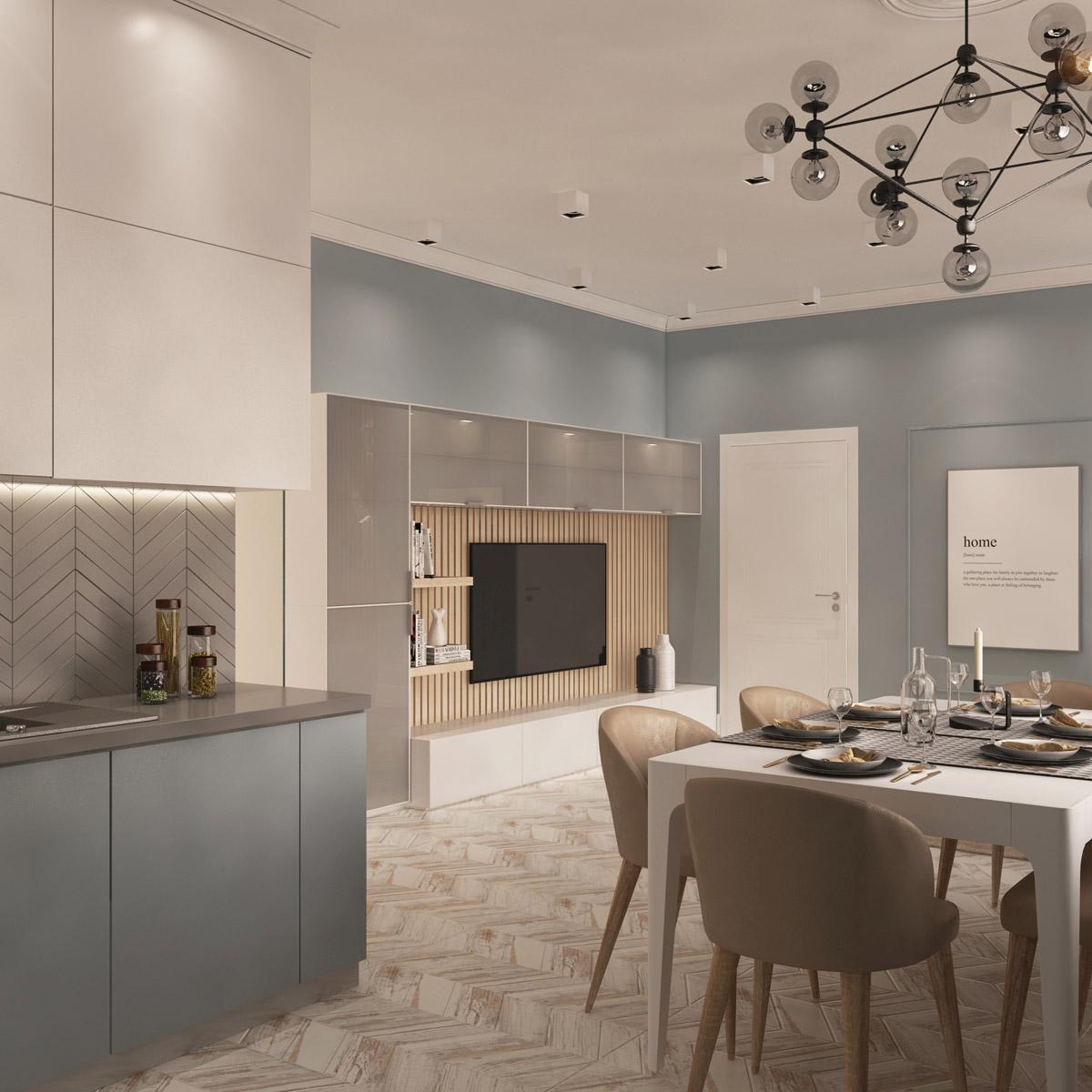 Дизайн квартири-студії | проект Оболонський проспект
