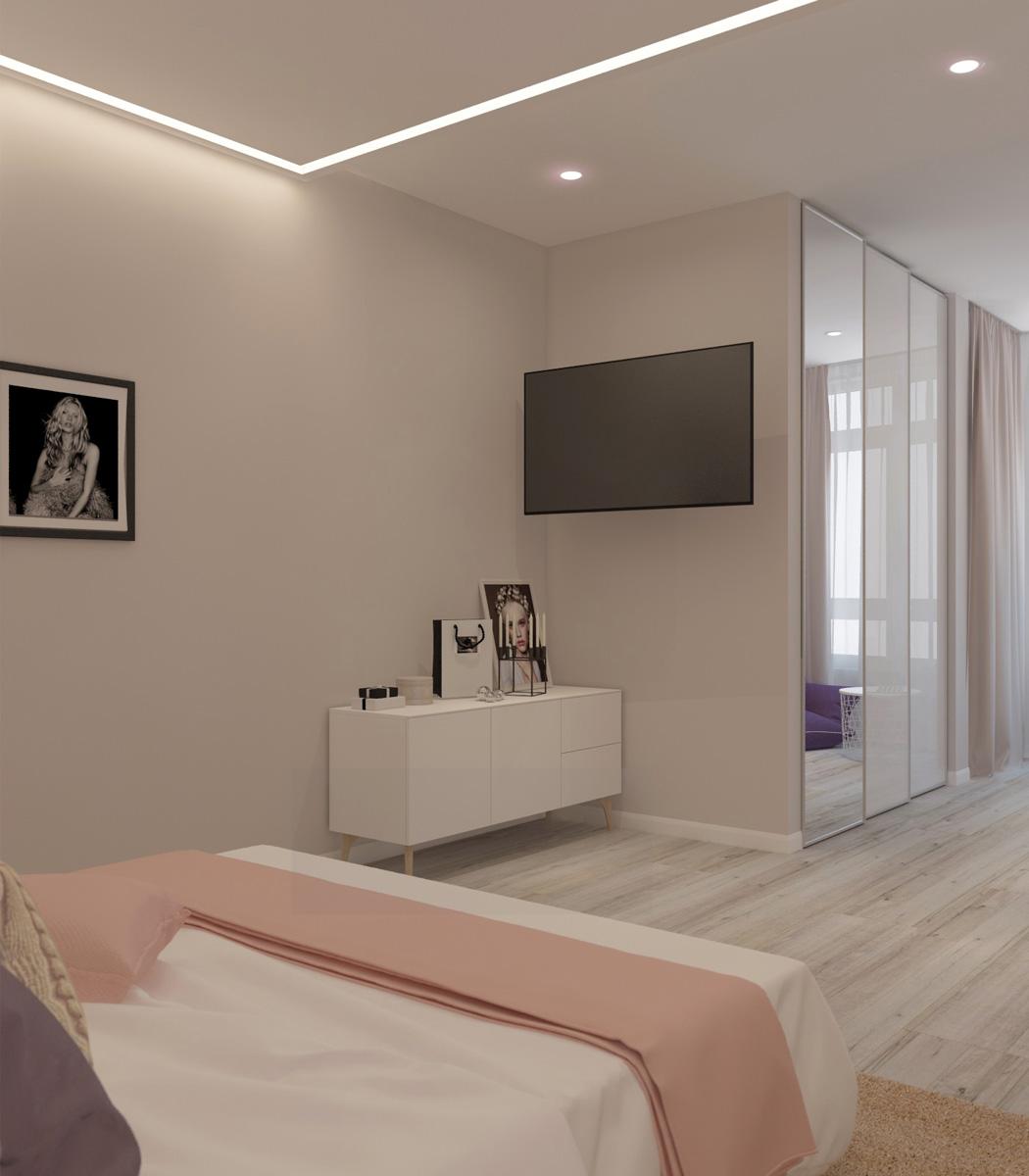 Вид спальні | дизайн-проект ЖК «Олімпійський»