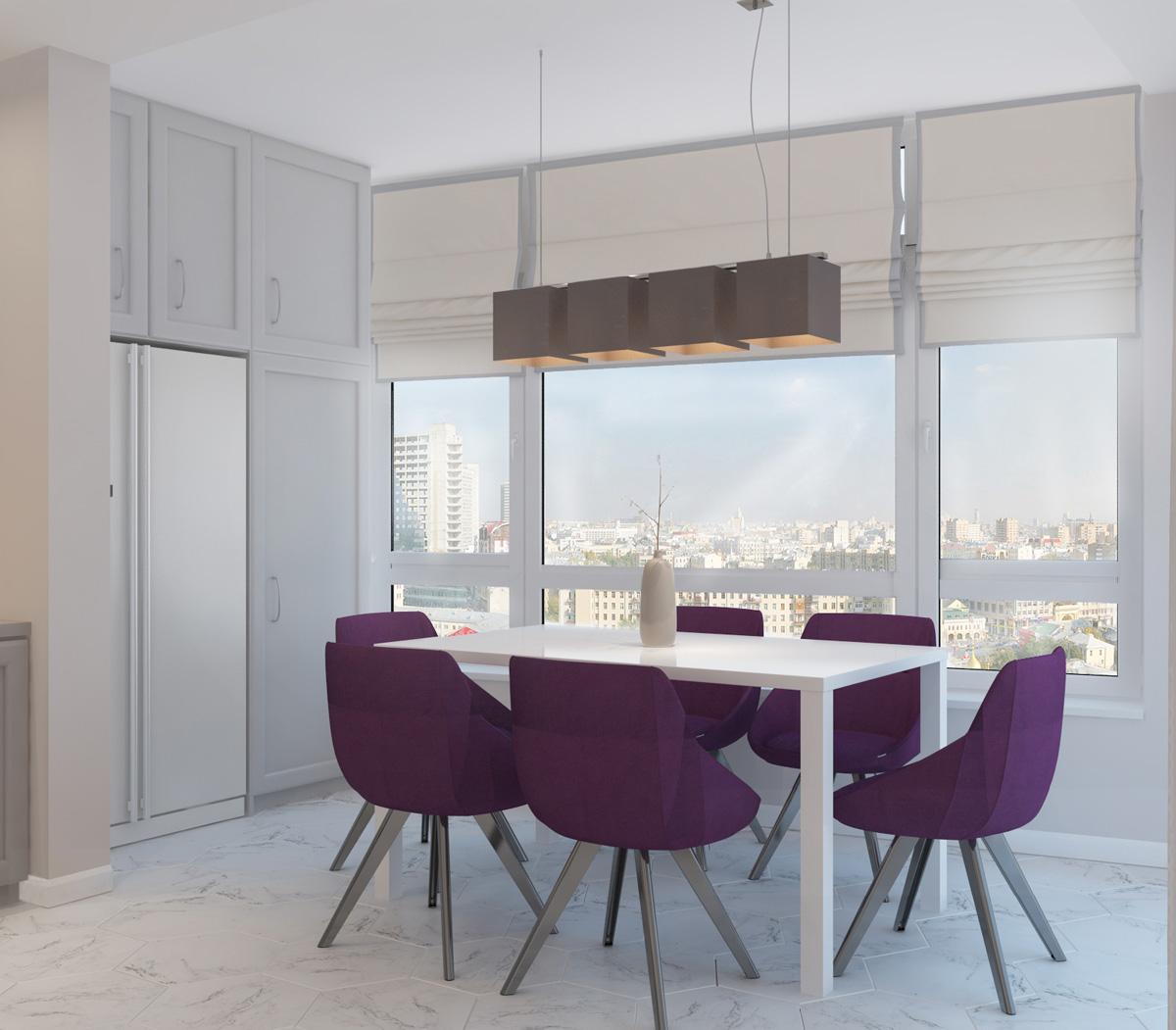 Панорама кухні | дизайн-проект ЖК «Олімпійський»
