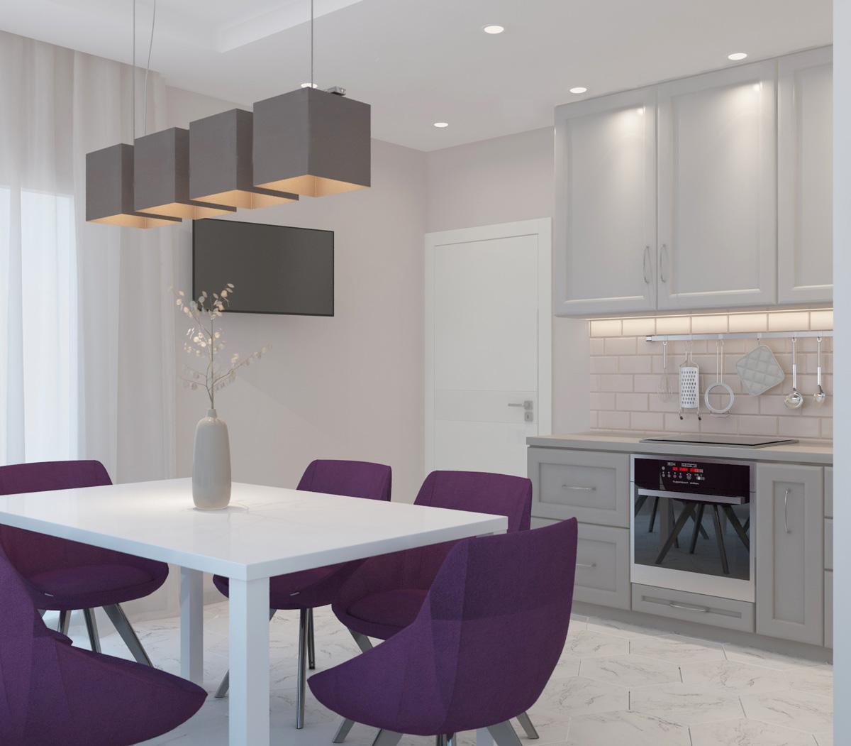 Інтер'єр кухні | дизайн-проект ЖК «Олімпійський»