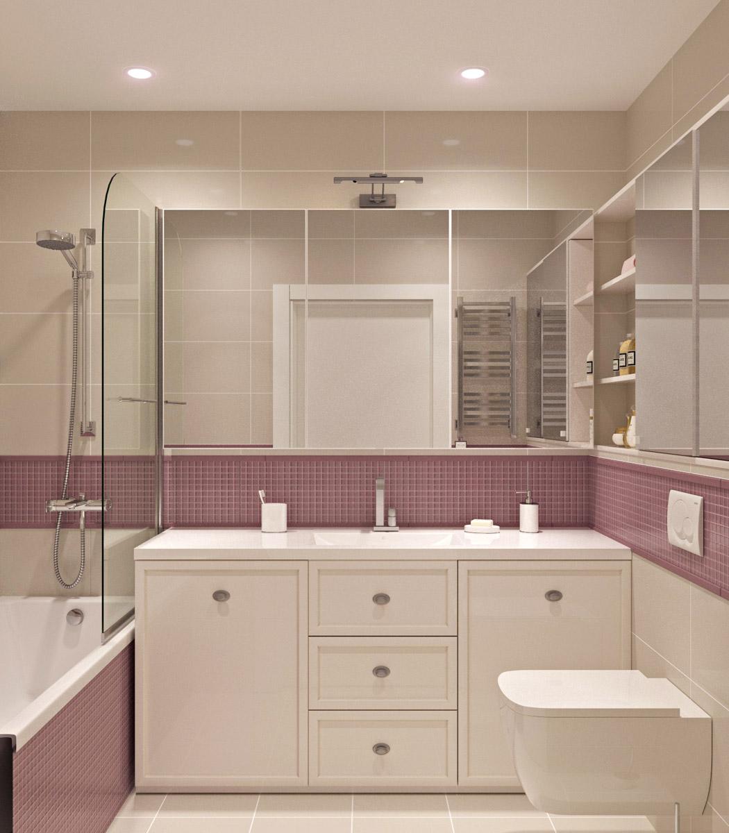 Інтер'єр ванної кімнати | дизайн-проект ЖК «Олімпійський»