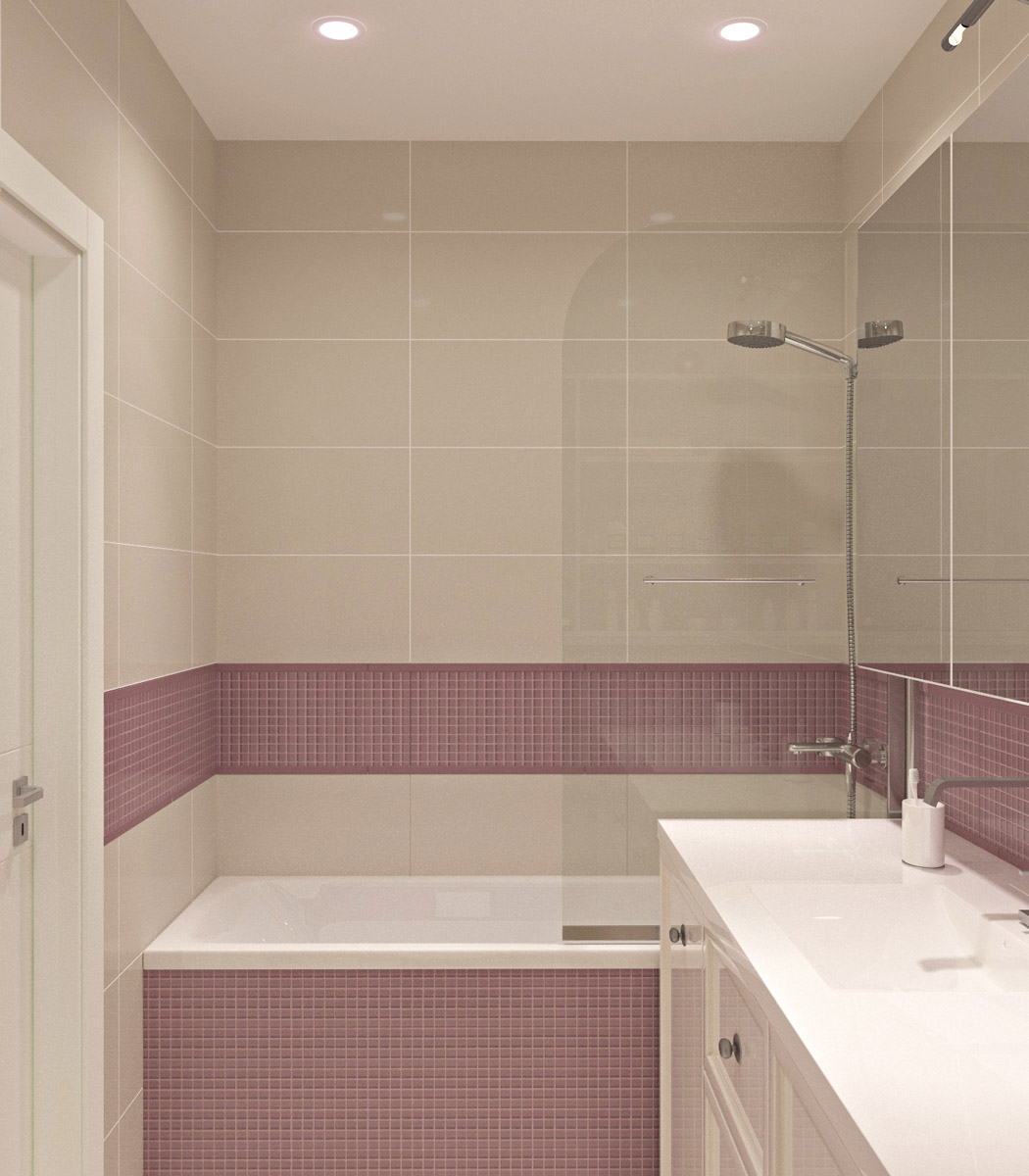 Дизайн ванної кімнати | проект ЖК «Олімпійський»