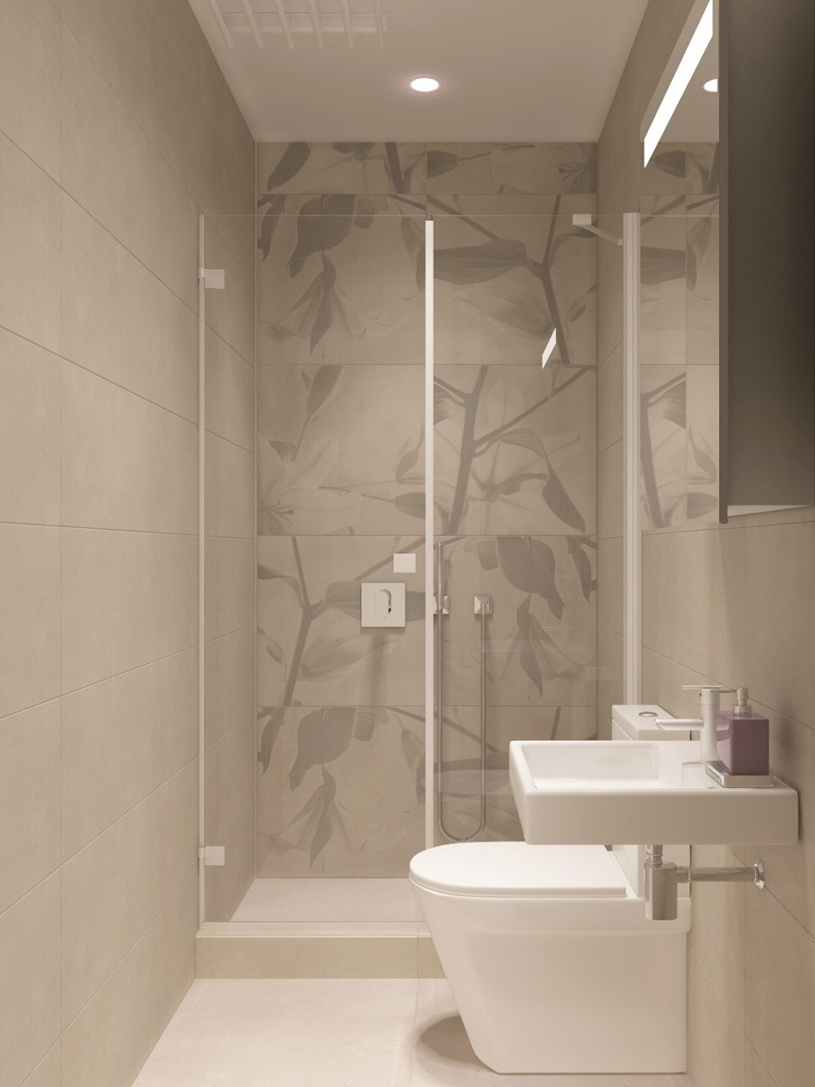 Дизайн душової | проект ЖК «Олімпійський»