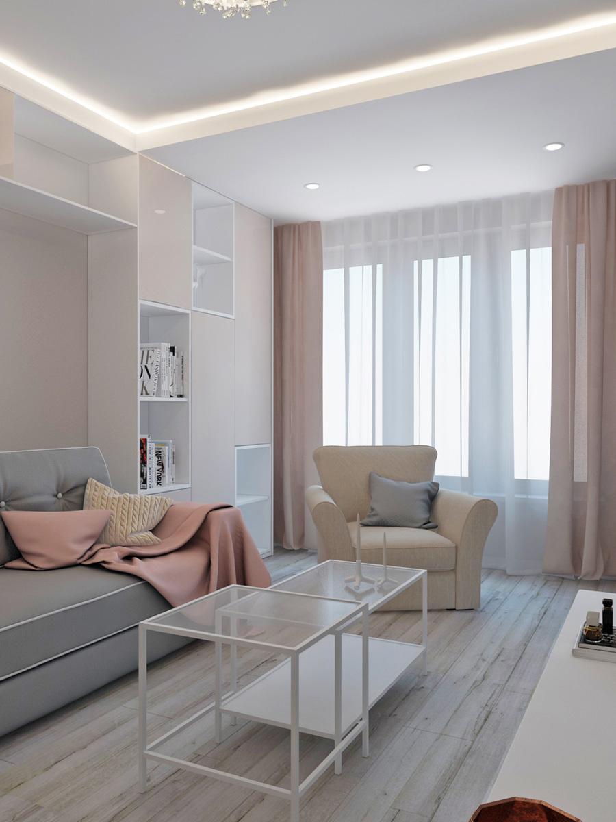 Дизайн вітальні для дівчини | проект ЖК «Олімпійський»