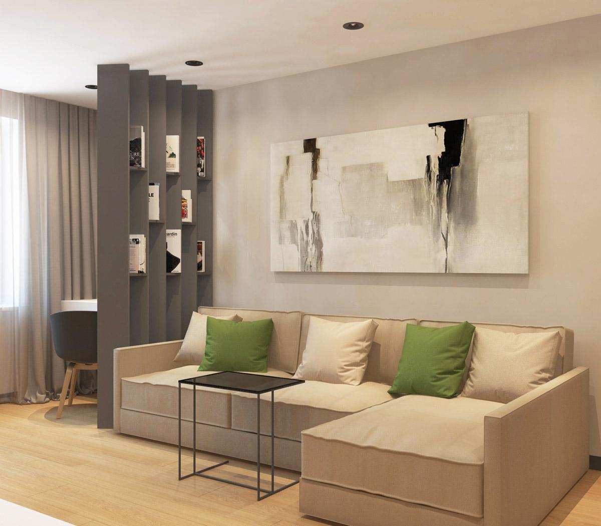 Дизайн 1-о кімнатної квартири | проект ЖК «Південний Квартал»