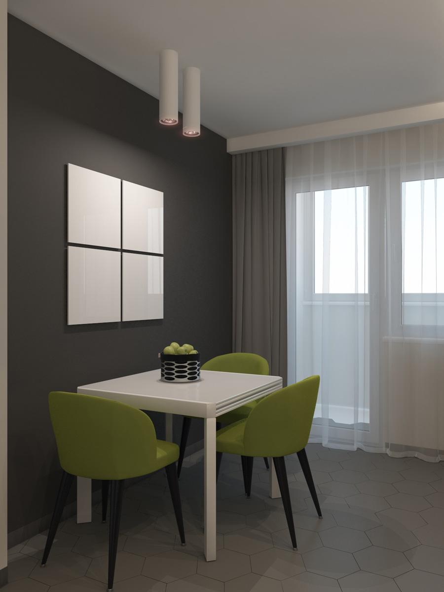 Дизайн кухні у стилі мінімалізм | проект ЖК «Південний Квартал»